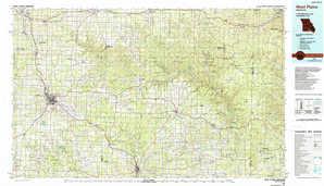 West Plains 1:250,000 scale USGS topographic map 36091e1