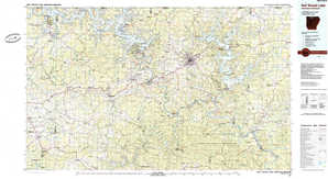 Bull Shoals Lake topographical map