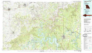 Table Rock Lake topographical map