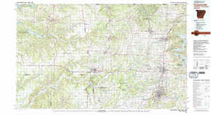 Fayetteville topographical map