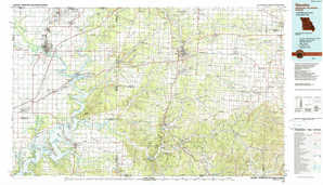 Neosho topographical map