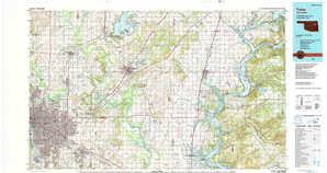 Tulsa topographical map