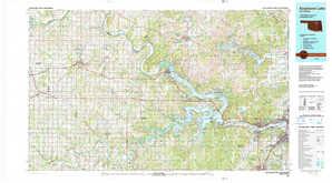 Keystone Lake topographical map