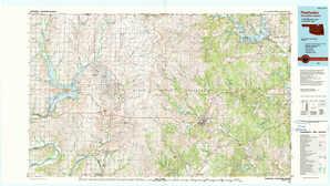 Pawhuska topographical map