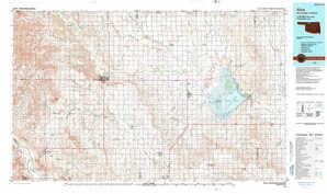 Alva topographical map