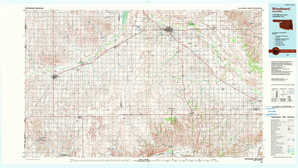 Woodward topographical map