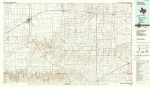 Perryton topographical map