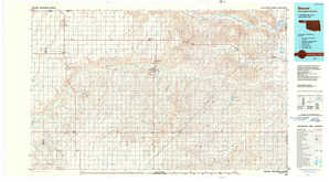Beaver topographical map