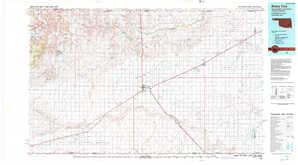 Boise City topographical map