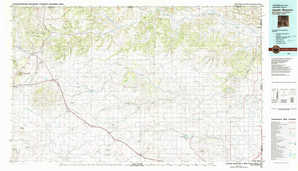 Capulin Mountain topographical map