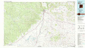 Raton topographical map