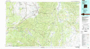 Taos topographical map
