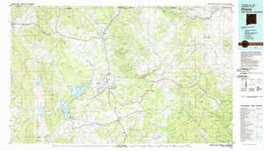 Chama topographical map