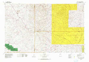 Chaco Canyon topographical map