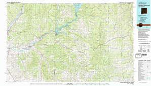 Navajo Reservoir topographical map