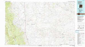 Toadlena topographical map