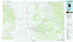 Canyon De Chelly topographical map