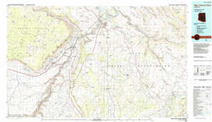 Glen Canyon Dam topographical map
