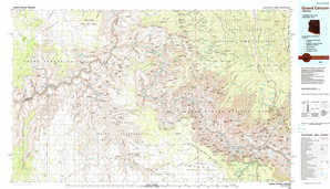 Grand Canyon topographical map