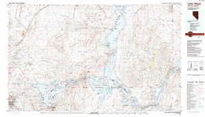 Lake Mead topographical map