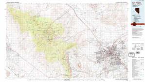 Las Vegas topographical map