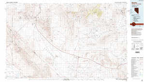 Beatty topographical map