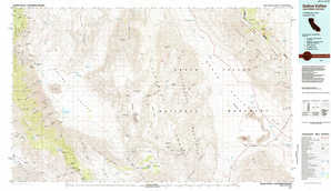Saline Valley topographical map