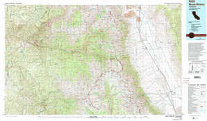 Mount Whitney topographical map