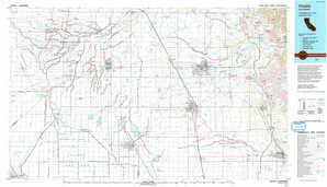 Visalia topographical map