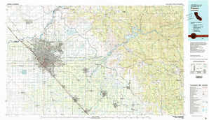 Fresno topographical map