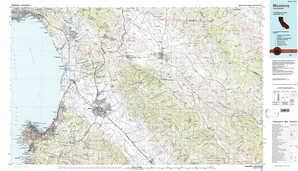 Monterey topographical map