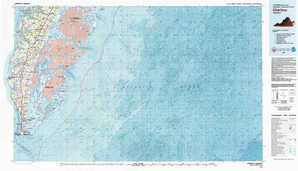 Cheriton topographical map