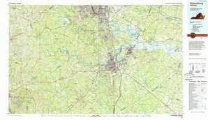 Petersburg topographical map
