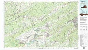 Radford topographical map