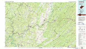 Lewisburg topographical map