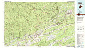 Bluefield topographical map