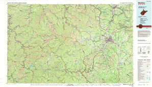 Beckley topographical map