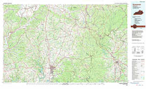 Somerset topographical map
