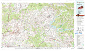 Campbellsville topographical map