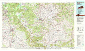Elizabethtown topographical map