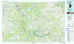 Tell City topographical map