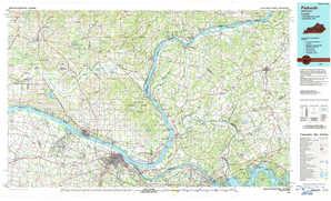 Paducah topographical map