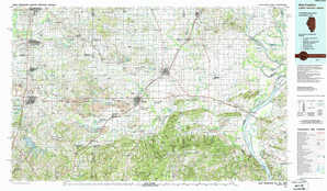 West Frankfort topographical map