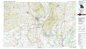 Cape Girardeau topographical map