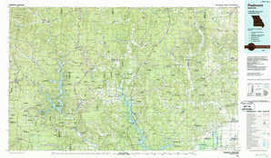 Piedmont topographical map