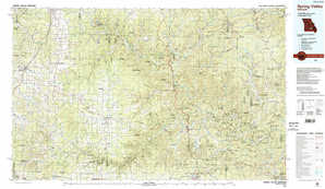 Spring Valley topographical map