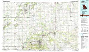Joplin topographical map