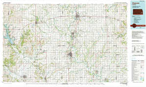 Chanute topographical map