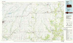 Sedan topographical map