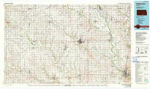Wellington topographical map